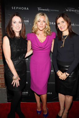 Actress Jane Krakowski, Sharon Rothstein, Senior VP of Marketing for Sephora, and Debra Butler, Vice President of Creative Marketing for Firmenich celebrate the opening of The Sensorium