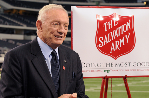 The Dallas Cowboys have helped The Salvation Army raise $1.4 billion in the Red Kettles over their 15-year partnership. Photo Credit: The Dallas Cowboys