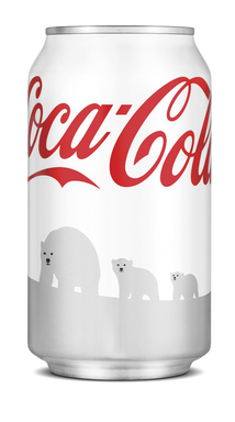 Coca-Cola turns its iconic red Coke cans Arctic white to raise awareness and funding for polar bears