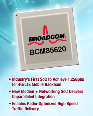Broadcom BCM85620: Industry's First SoC to Achieve 1.25Gbps for 4G/LTE Microwave Backhaul