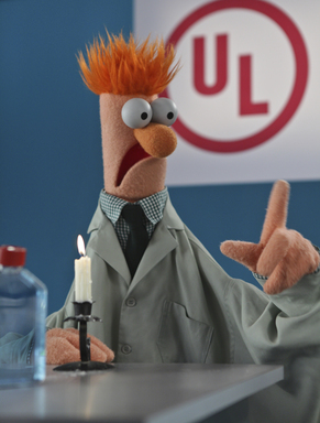 Beaker learns about the importance of fire safety from UL, a global safety organization. See Disney's The Muppets in theaters this Thanksgiving.