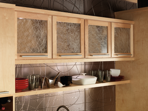 Floating shelves can open up a space making a cramped kitchen feel more airy.  Furthermore, items are easily accessible and the homeowner can get creative by displaying collectables.