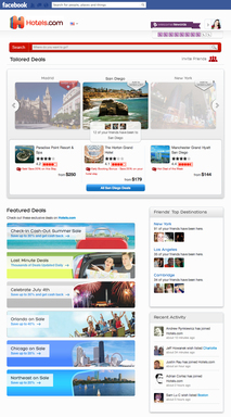 On the Main Page, search for destinations, peruse all the featured deals, and see your friends' top destinations and recent activity.