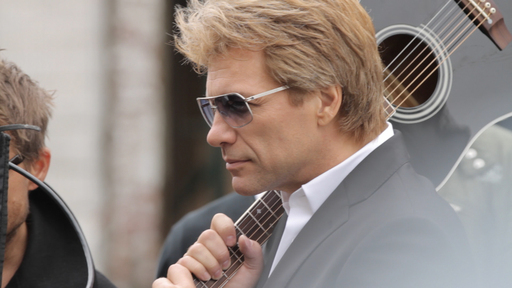 Behind the scenes with Jon Bon Jovi at a photo shoot for the latest Avon fragrances, Unplugged