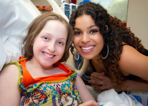 "Jordin Sparks shared some very special moments with St. Jude patient Alyssa, including a smile while filming the ""Hey Jude"" video."