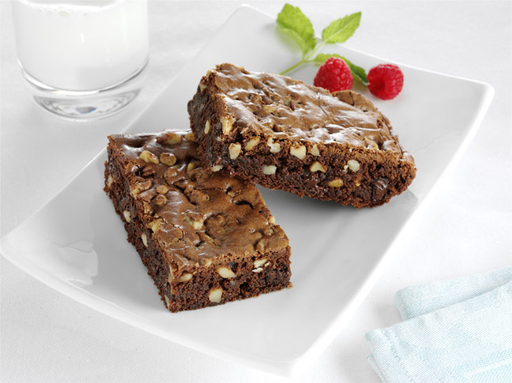 These delectable double chocolate chip brownies are twice as good and twice as nutty with Fisher® Walnut Chips
