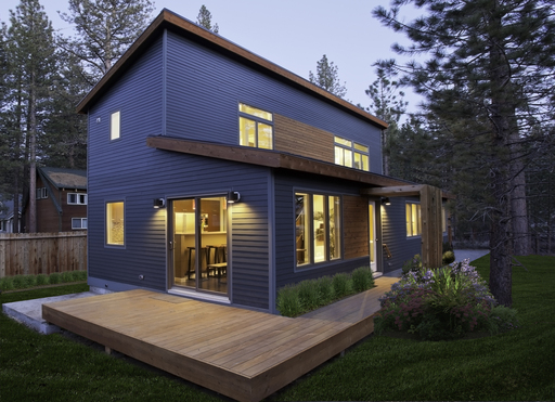 A Blu Homes Evolution home in South Lake Tahoe, CA