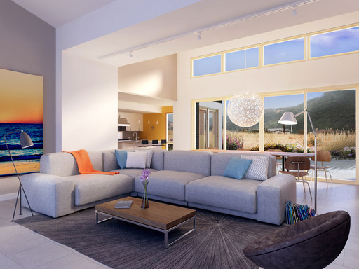 Blu Homes' First Model Home in Los Angeles Includes a Grand Breezespace and Floor-to-Ceiling Windows
