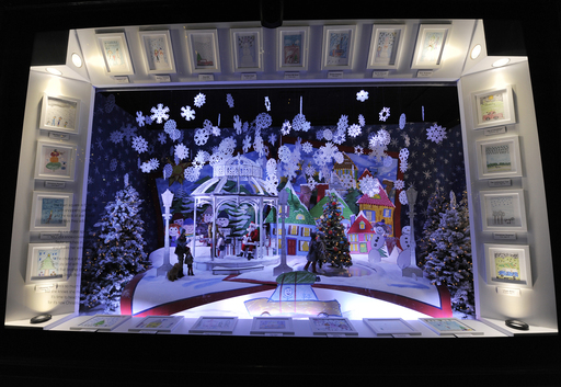 Lord & Taylor Window: Meeting Santa