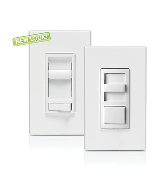 Leviton's Universal Dimmers, available in two distinct styles, are capable of properly dimming all types of lighting sources, including LED, CFL and incandescent bulbs.