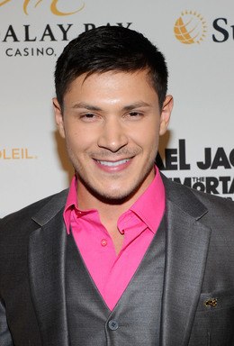 Actor Alex Meraz arrives at the Las Vegas premiere of Michael Jackson THE IMMORTAL World Tour by Cirque du Soleil at the Mandalay Bay Resort & Casino.  (Photo by Ethan Miller/Getty Images for Cirque du Soleil)