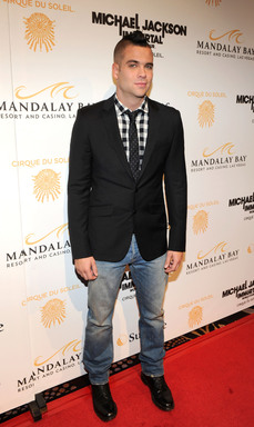 Actor Mark Salling arrives at the Las Vegas premiere of Michael Jackson THE IMMORTAL World Tour by Cirque du Soleil at the Mandalay Bay Resort & Casino.  (Photo by Ethan Miller/Getty Images for Cirque du Soleil)