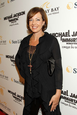 Actress Allison Janney arrives at the Las Vegas premiere of Michael Jackson THE IMMORTAL World Tour by Cirque du Soleil at the Mandalay Bay Resort & Casino.  (Photo by Isaac Brekken/Getty Images for Cirque du Soleil)