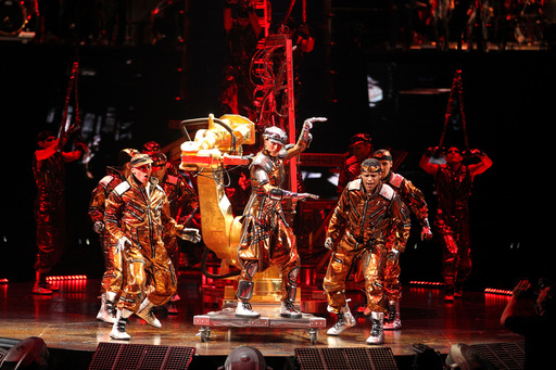 Dancing Machine act from Michael Jackson THE IMMORTAL World Tour by Cirque du Soleil; Photo by OSA Images; Costumes by Zaldy Goco