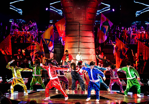 MegaMix act from Michael Jackson THE IMMORTAL World Tour by Cirque du Soleil; Photo by OSA Images; Costumes by Zaldy Goco