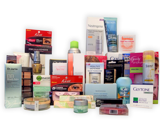 Pictured here are some of the Daily Glow Award winning products, representing the most innovative beauty products available in 2011.