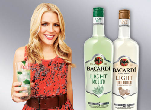 BACARDÍ and Busy Philipps introduce the new line of BACARDÍ Classic Cocktails Light in Piña Colada and Mojito flavors, with just-made tastes and under 95 calories per serving.