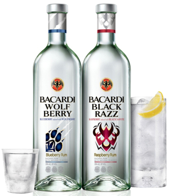 The innovative spirit of BACARDÍ led it to be the first brand to introduce these unique fruit pairings to the clear flavored spirits market—BACARDÍ Wolf Berry & BACARDÍ Black Razz.