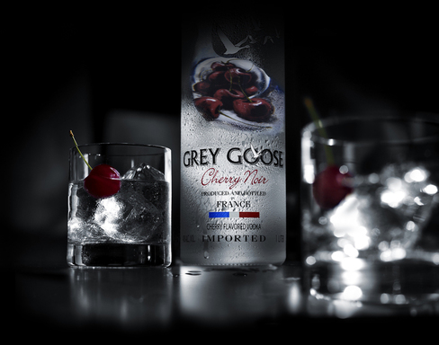 GREY GOOSE Cherry Noir combines the aroma of fresh cherries and sweet red fruits with dark fruit flavors and layers of spice, delivering a sophisticated, sensuous flavored vodka.