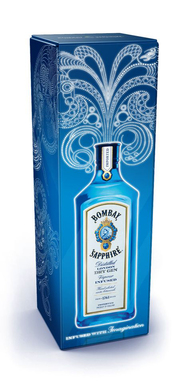 "BOMBAY SAPPHIRE gin offers the 'electro' pack which lights up a design from the brand's ""Infused with Imagination"" campaign to brighten up any holiday celebration."
