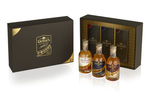 DEWAR'S 'Nosing & Tasting Kit' features bottles of DEWAR'S White Label, DEWAR'S 12 Years Old and DEWAR'S 18 Years Old Blended Scotch whiskies for a 'master blender experience.'