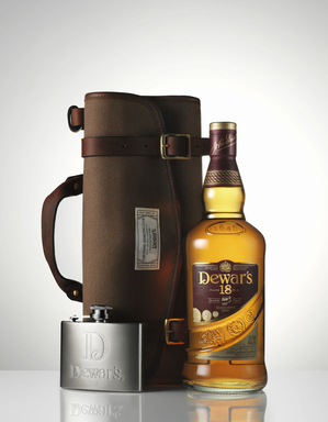 Scotch whisky lovers can enjoy DEWAR'S Blended Scotch whisky along with a functional travel bag that outfits a custom flask designed to accompany a bottle of DEWAR'S 18 Years Old.
