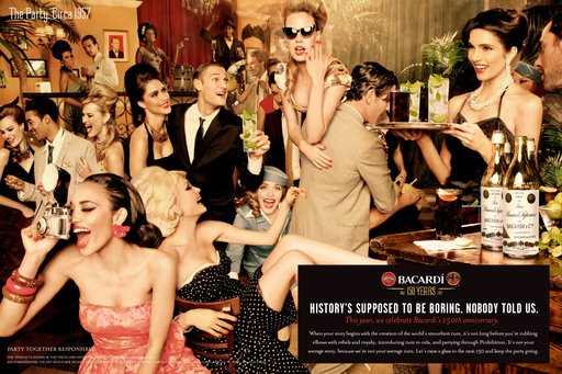 BACARDÍ Party Circa 1957 ad celebrates 150 years of the brand as it mixes modern and traditional takes on its heritage. Let's toast to the next 150 years and keep the party going.