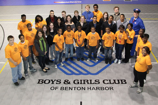 2010 Dependable Club winner, Wiesbaden Child & Youth Services, Germany (Army) visit with Boys & Girls Club of Benton Harbor, Michigan and the Maytag Repairman