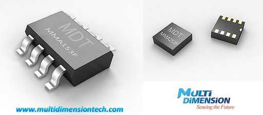 MultiDimension Technology - MDT MMA153F and MMA253F TMR magnetic angle sensors in SOP8 and LGA8 package.