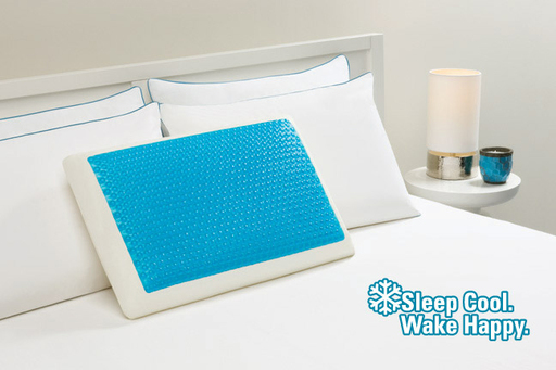 Cool Cerulean  Bubbles Hydraluxe Cooling Bed Pillow. Sleep Cool. Wake Happy.
