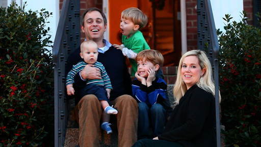 The Fitch family at home in Tennessee. Credit: Northwestern Mutual
