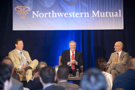 John Schlifske, Chairman and CEO of Northwestern Mutual, and Steve Forbes, address business owners and community leaders (May 2011).