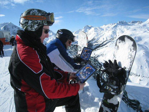 Allot Pinball being enjoyed by snowboarders