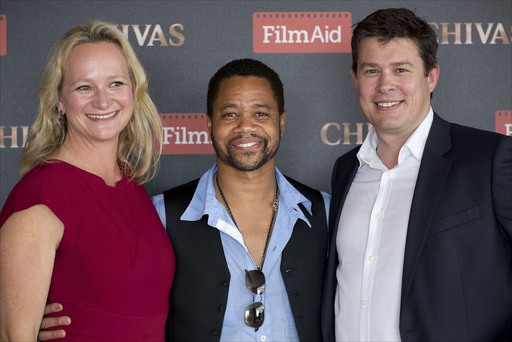 FilmAid Iliane Ogilvie Thompson, Cuba Gooding Jr. and James Slack