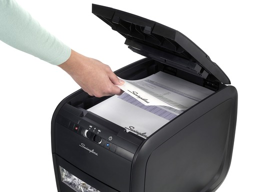 Swingline Stack-and-Shred 60X Hands Free Paper Shredder - A Better Way to Shred