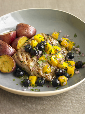 Dress up grilled seafood with sweet and spicy fruit salsa recipes that are easy to make ahead (Organic Gardening Magazine)