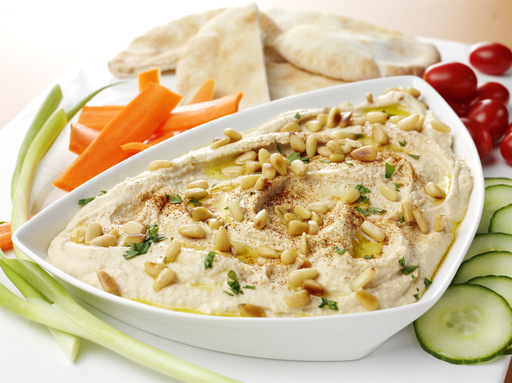 For a fresh take on a popular Mediterranean classic, try the Toasted Pine Nut & Garlic Hummus