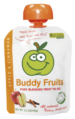 Each squeezable fruit pouch is gluten free, all natural and contains 100 percent pure fruit.