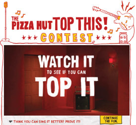 Consumers can upload their own rendition of the $10 Any Song to facebook.com/pizzahut by Jan. 15 for a chance to be featured in a national TV spot.