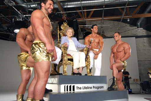 "Filming her dance music video, The Lifeline Program spokesperson Betty White comments, ""It's the hottest program for spicing your golden years."" Hollywood's favorite ""golden girl"" recently celebrated her 90th birthday. Photo credit: Raelene Mercer"