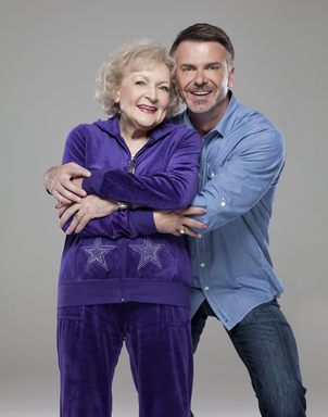 "The Lifeline Program spokesperson Betty White comments, ""It's the hottest program for spicing your golden years."" Hollywood's favorite ""golden girl"" recently celebrated her 90th birthday, with company President/CEO Wm. Scott Page. Photo credit: Mike Ruiz"