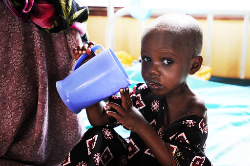 A child receiving care at a hospital in Daadab. Photo Credit: Save the Children