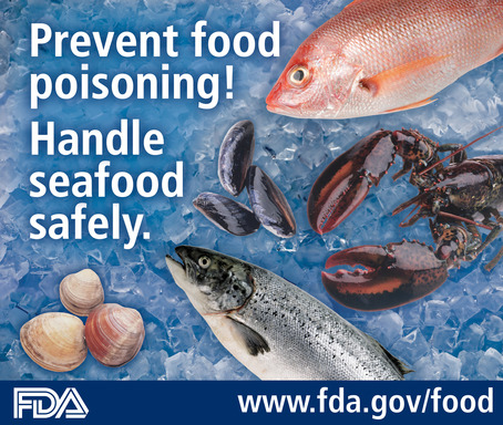 Prevent food poisoning! Handle seafood safely.