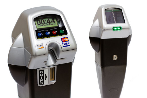 IPS Solar Powered, Credit Card Enabled Single Space Parking Meters