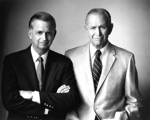 J.W. ''Bill'' Marriott, Jr. and J. Willard Marriott