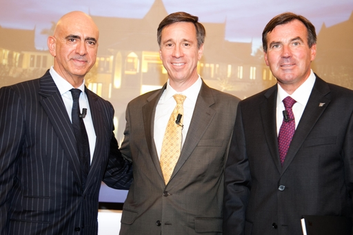 (left to right) Alex Kyriakidis, President and Managing Director, Middle East & Africa, Marriott International / Arne Sorenson, President & CEO, Marriott International / Rupprecht Queitsch, General Manager, JW Marriott Marquis Dubai