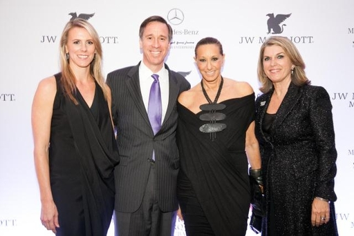 Mitzi Gaskins, JW Marriott Hotels & Resorts; Arne Sorenson, Pres., & CEO, Marriott Int'l; Donna Karan, designer & founder of Urban Zen; Kathleen Matthews, EVP, Marriott International