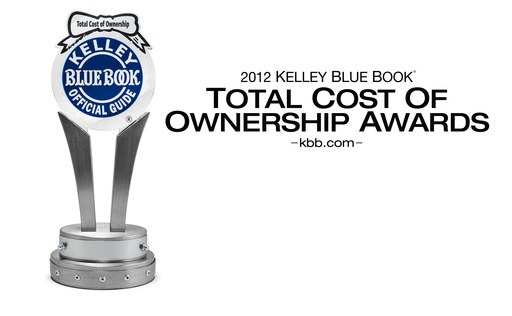 Kelley Blue Book www.kbb.com announces the winners of its 2012 Total Cost of Ownership Awards, honoring the brands and vehicles with the lowest projected ownership costs over the initial five-year ownership period.