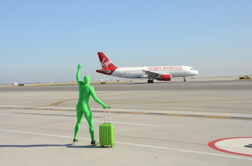 The airline leaked the PHL news with a video of the beloved 'Greenman' from the FX TVshow ''It's Always Sunny in Philadelphia'' trying to catch Virgin America flight.