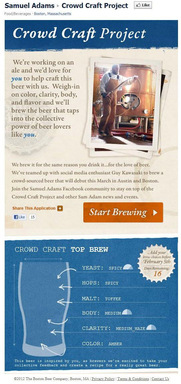 Samuel Adams Crowd Craft Project Facebook application